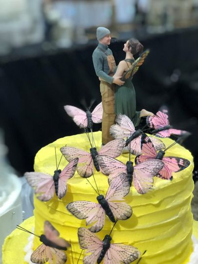 Most creative cake topper
