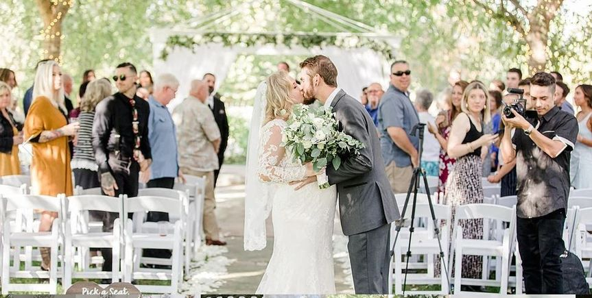 Sun-drenched outdoor ceremony
