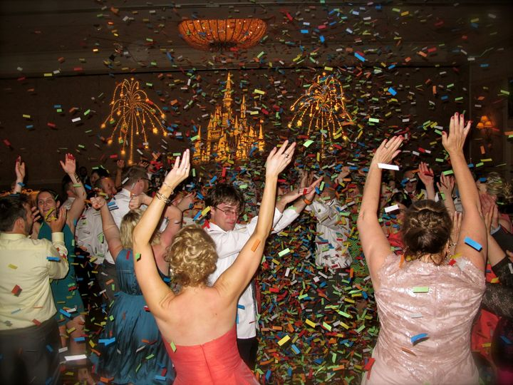 A confetti blast is the perfect way to end an Orlando Wedding Reception!