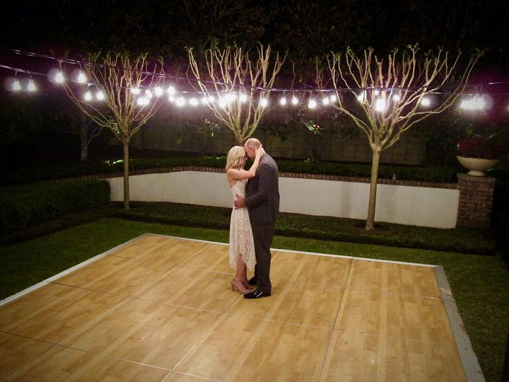 Beautiful Orlando DJ and Lighting effects for your Wedding.