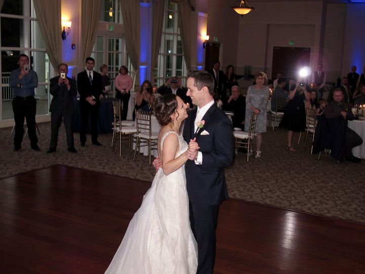 This couple share their first dance at their Orlando Wedding.