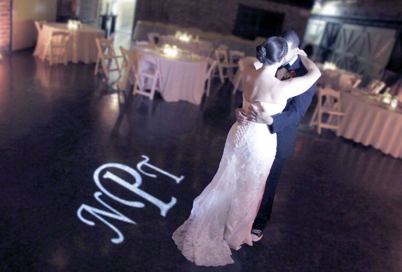 First dance and monogram projection