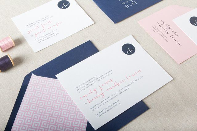 The Declan invitations feature a modern monogram and are a perfect fit for couples who want a...