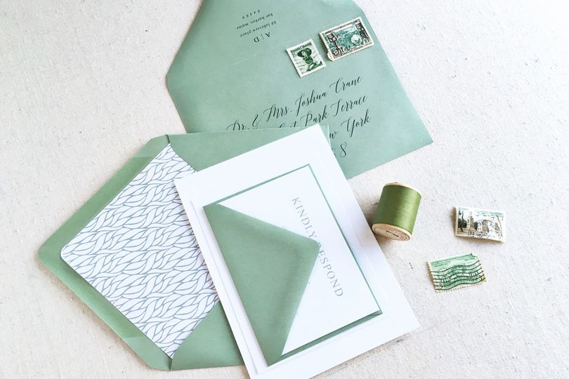A sophisticated mix of modern and traditional the Adams wedding invitation suite is perfectly suited...