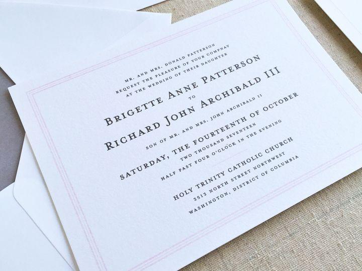 Tmx 1483550492469 Brianneinvite Maynard wedding invitation
