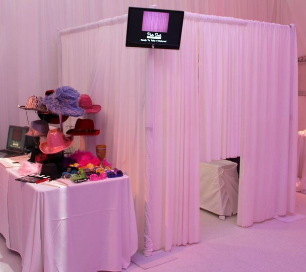 Elegant Ivory Velvet Photo Booth  6' by 6' Velvet Booth (fits up to 15 adults)