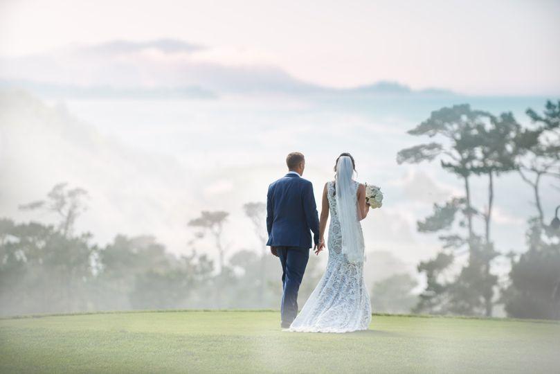 Foggy walk of love