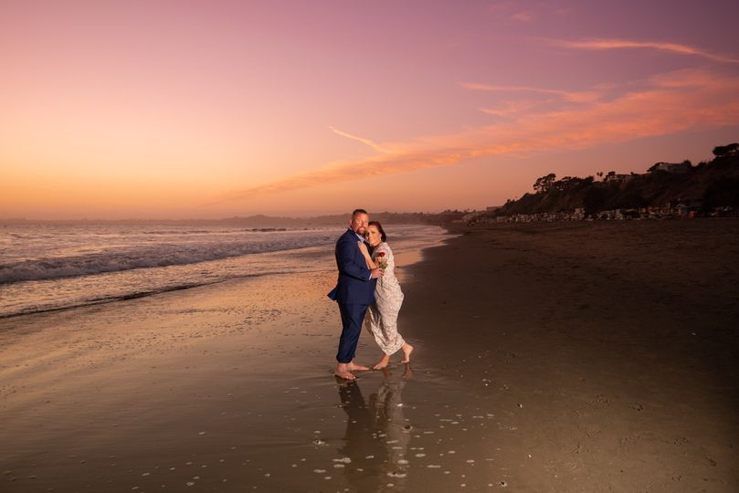 Sunset Vow Renewal at the beac