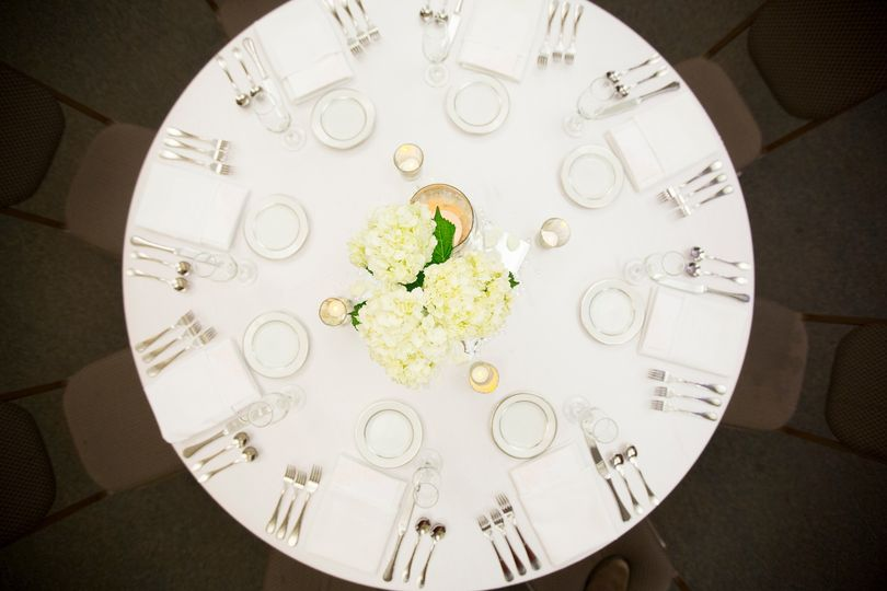 Ivory and gold table settings