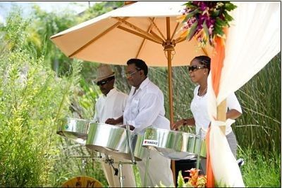 Steel Drum Band at wedding ceremony in Florida. Book for beach wedding and events in Florida,...