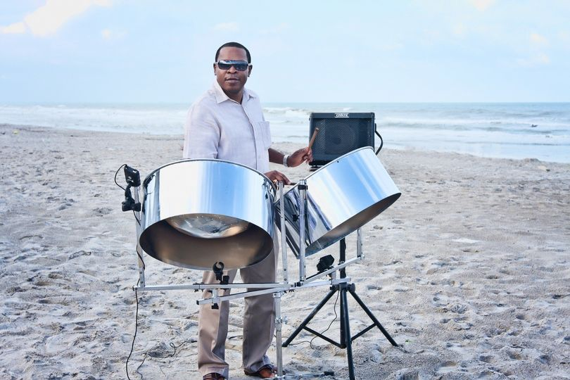 Steel Drum Band at Beach Wedding Ceremony in Cocoa Beach Florida.
