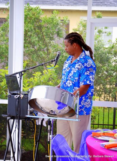 Steel Drum Band at Party in Daytona Beach Florida.