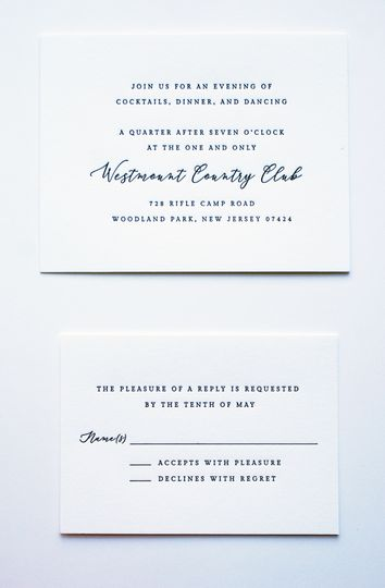 Carnemolla letterpress reply card
