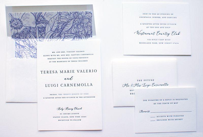 Carnemolla letterpress suite