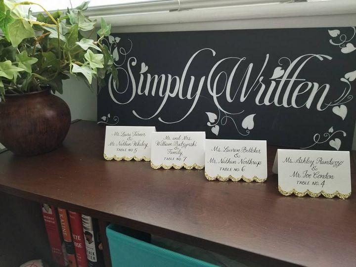Simply Written Blackboard Sign