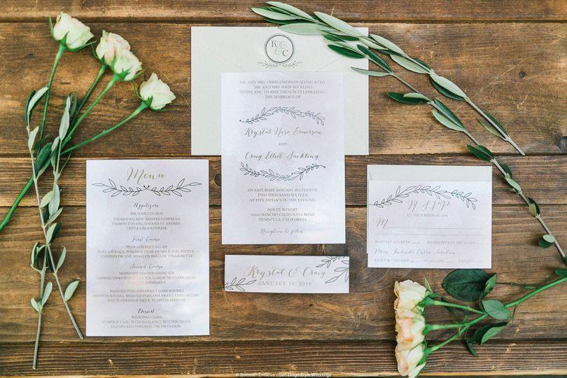 Simple invitation layout