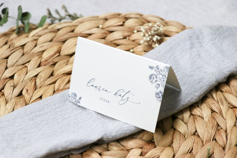 Midnight Rose Place Card