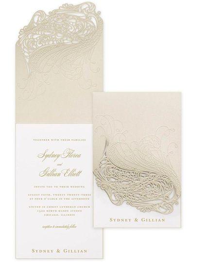Champagne laser cut detail