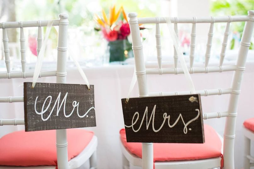 Newlyweds' seats