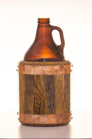 Antique barnwood growler- 64oz