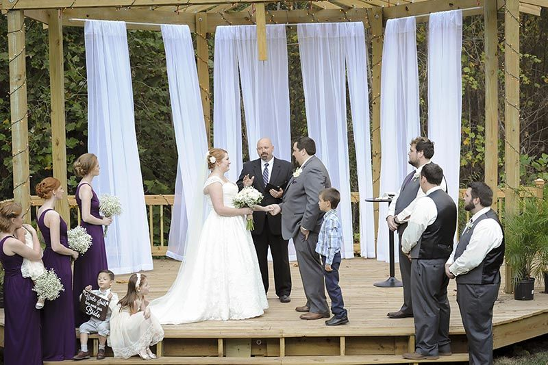 Ceremony under the arbor