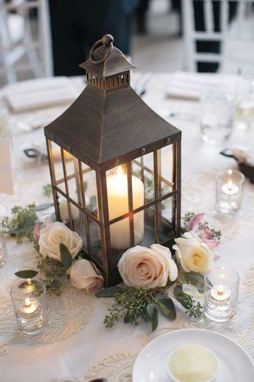 Beautiful lantern centerpiece