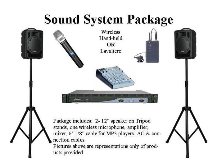 Sound system packages for events, conferences, meetings, or receptions.  Free Delivery and setup in...