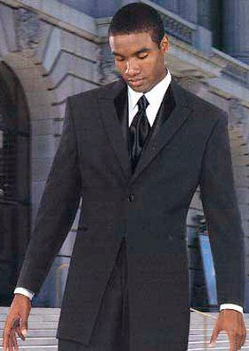Black suit with necktie