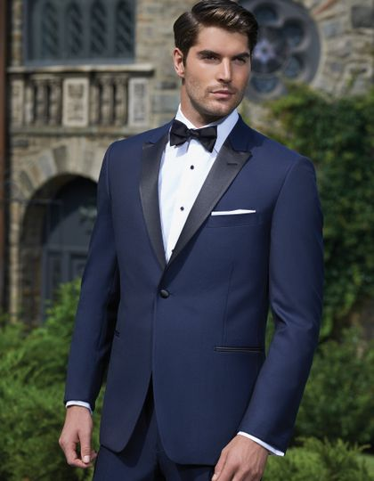 Blue suit with black lining