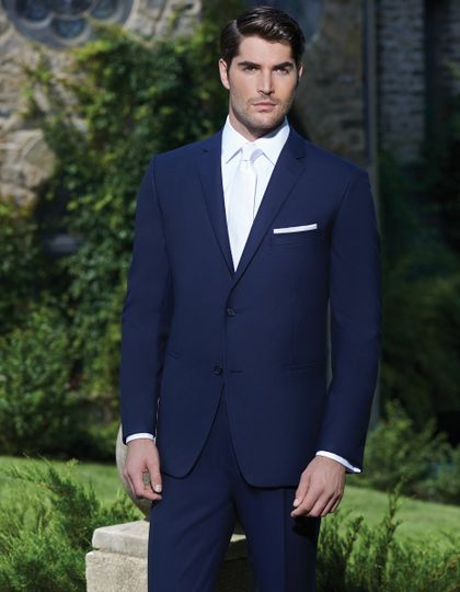 Blue formal suit