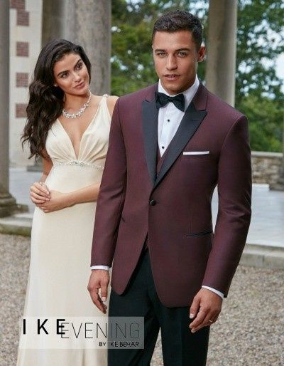 Plum suit with black lining