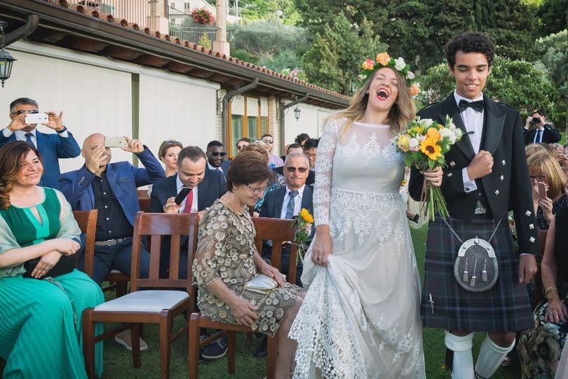 Entrance's bride Taormina Wedding