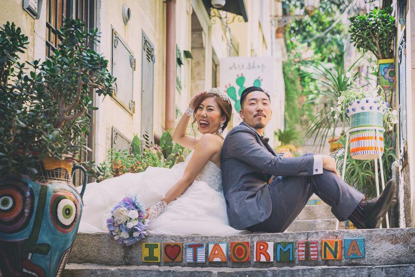 Portrait couple ad Taormina wedding