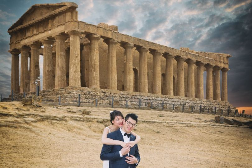 Portrait couple Valle dei Templi