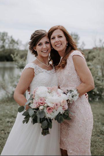 Mother & blushing bride