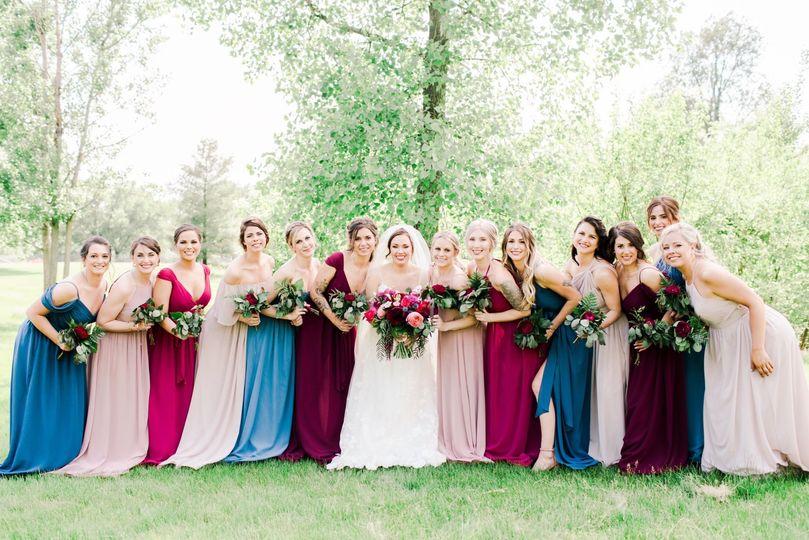 A beautiful bridal party