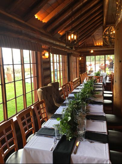 Head Table in Main Dining Room