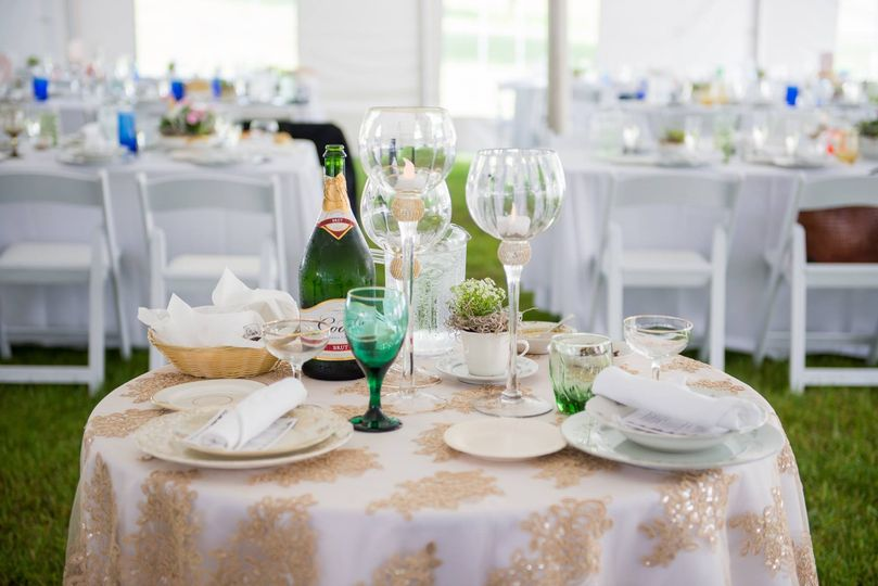 Champagne table