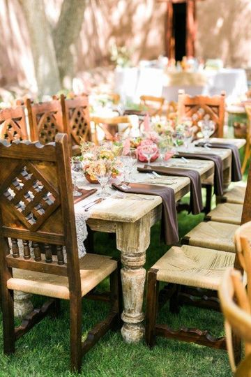 Wooden chairs with design