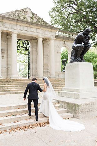 Rodin Museum Wedding in Philadelphia, PA