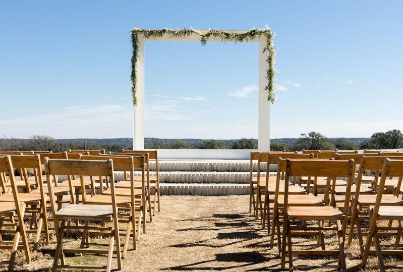 partymoontowerwooden vintage wedding chair ceremon