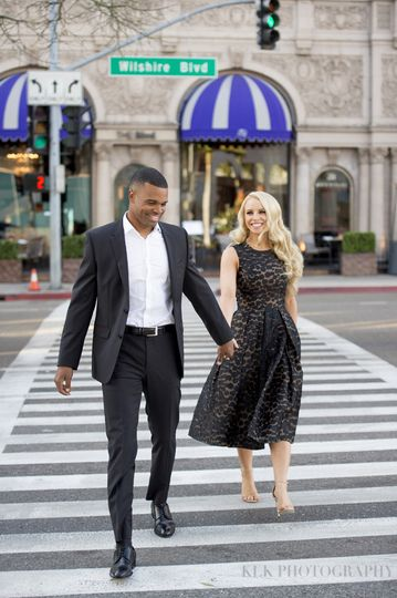 rodeo drivebeverly hills engagement shootbeverly w