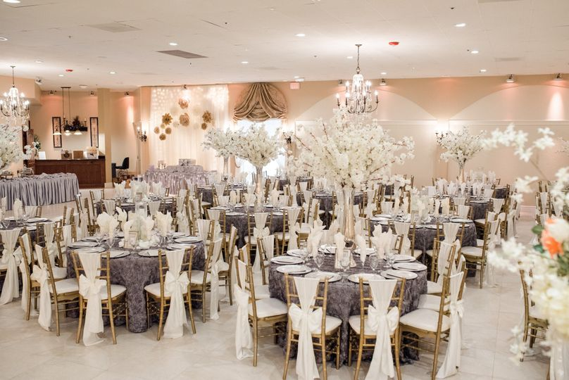 Ballroom decorated