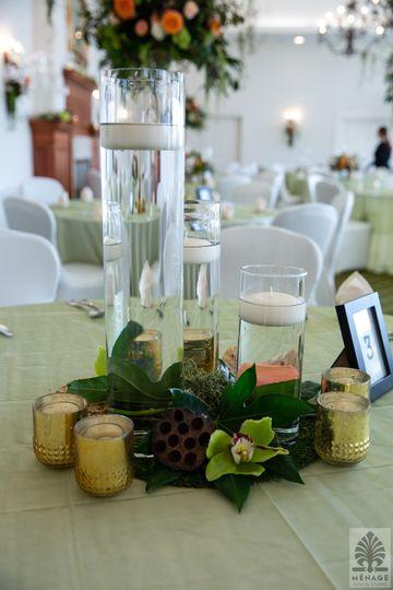 Low cylinder vase arrangements