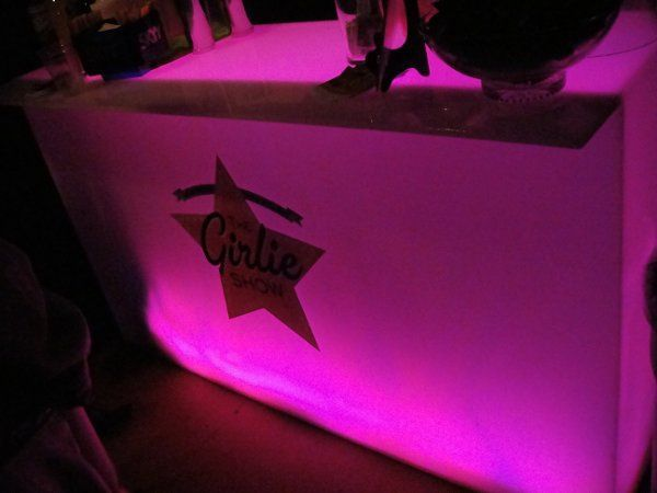 Lighted bar. Thousands of colors to choose from. Add your logo or initials for a custom touch.