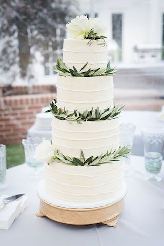 Four layer white cake
