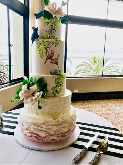 Elegant Hand Painted Cake