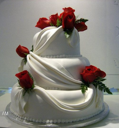 A rose is forever(fondant with fondant drape)