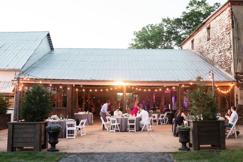 A patio reception