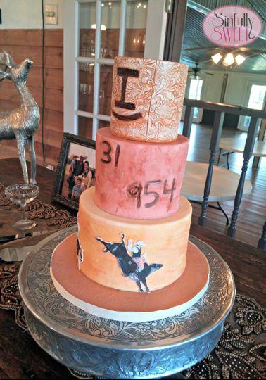 Western groom's cake in Houston Texas